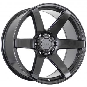 6 spoke concave wheel in Gloss Gunmetallic