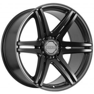 Split 6 spoke concave wheel in Matt Black